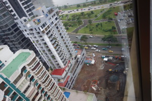 cityscape construction site along cinta costera