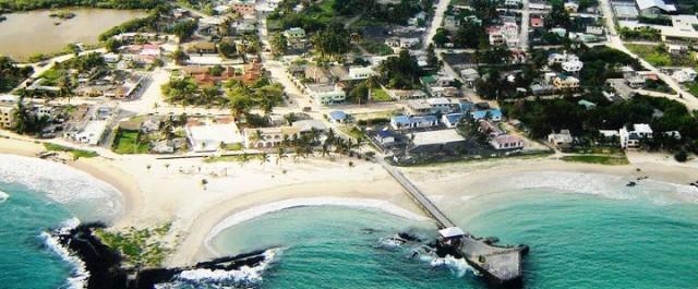 aerial view Puerto Villamil courtesy redmangrove.com