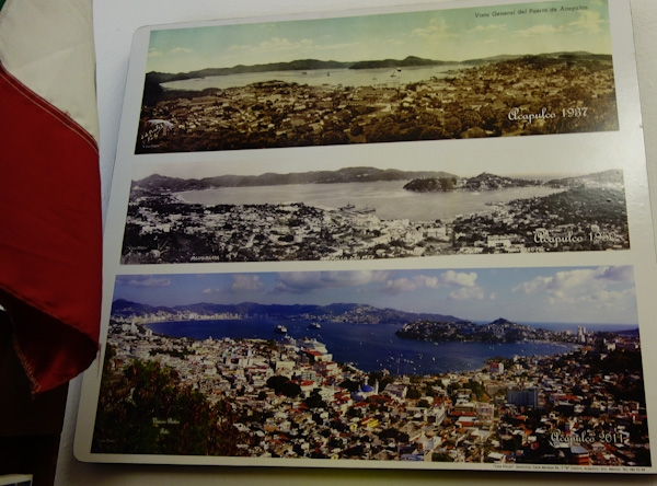 Acapulco in the 1930s, 1950s and 2011 - it's spread and grown a lot!