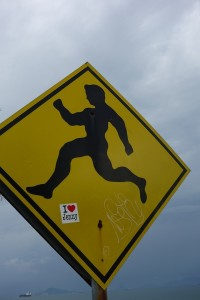 running man sign