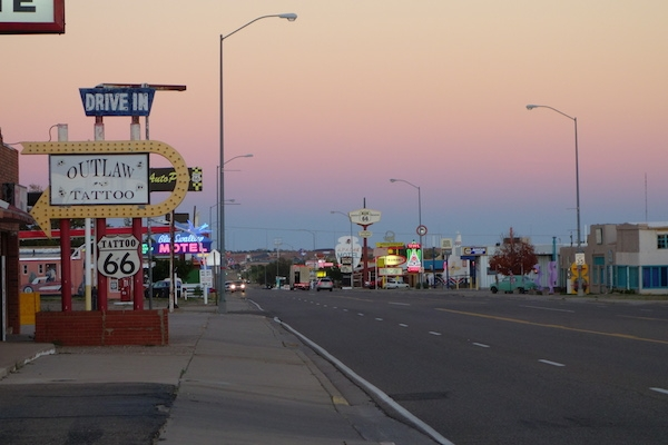 Rt. 66 runs through Tucumcari, and lots of it looks like it did in the 1950s, I'm guessing.