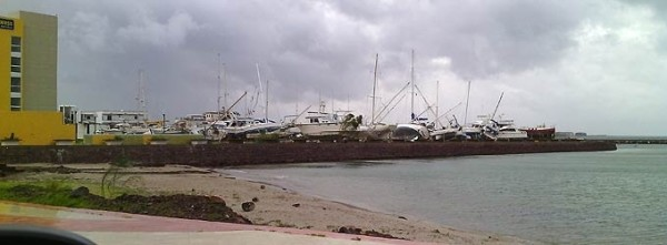 boats blown over by Odile