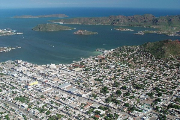 aerial view of Guaymas looking to seaward