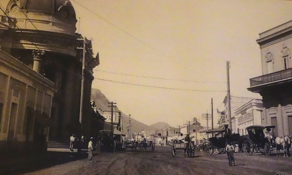 old photo of downtown Guaymas