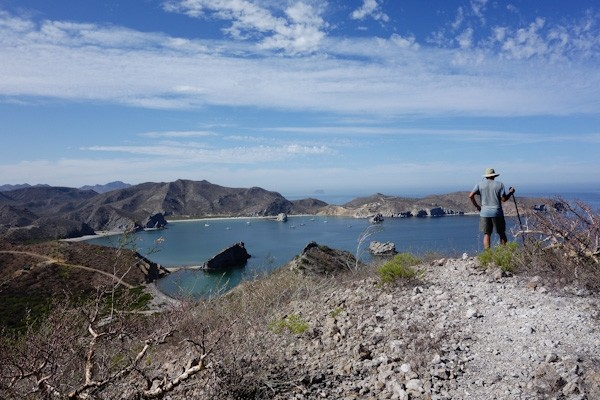 Looking north over San Juanico bay and anchorage from the 'ridge trail.