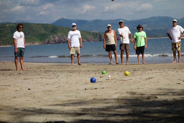 Bocce ball on the beach