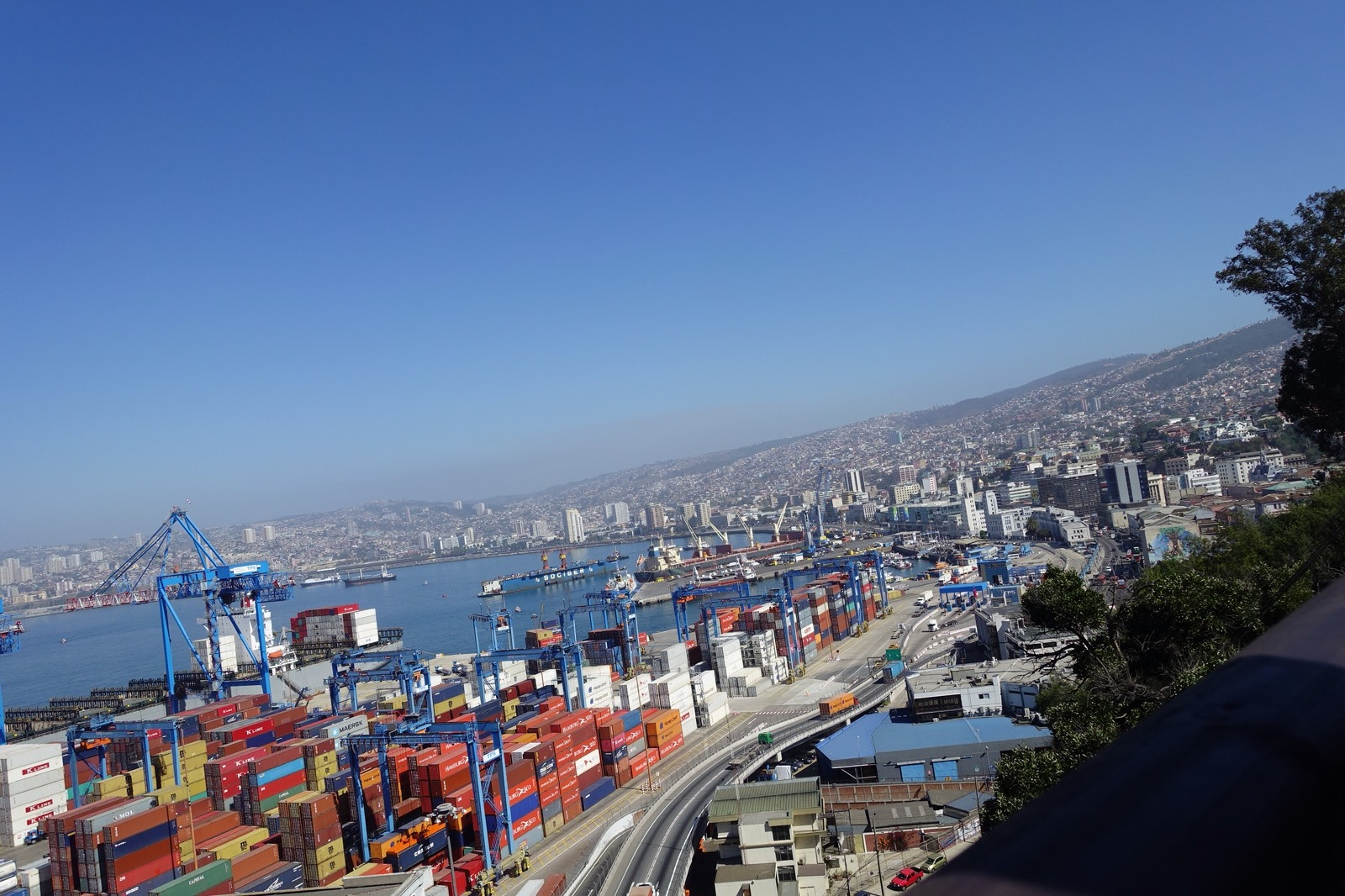 Container port, old town, new town, maybe Viña del Mar and points beyond